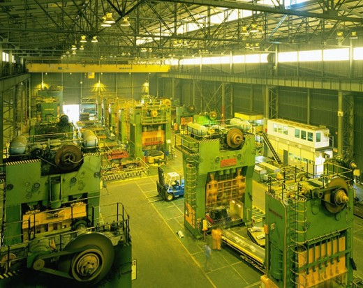 Motor industry stamping plant : Stock Photo
