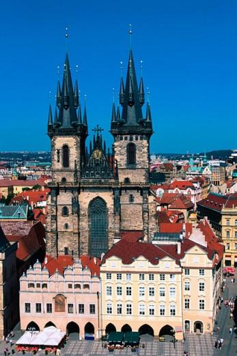 Stock Photo: 1566-044950 Tyn Church. Prague. Czech Republic