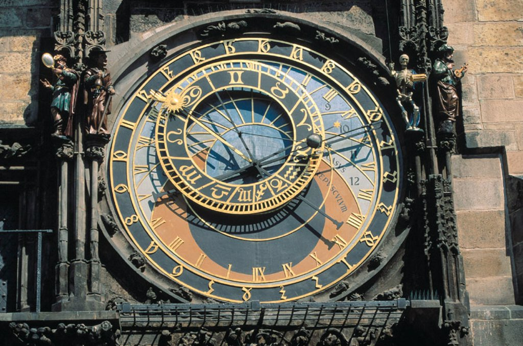 Stock Photo: 1566-044954 Astronomical clock. Old Town Hall. Prague. Czech Republic