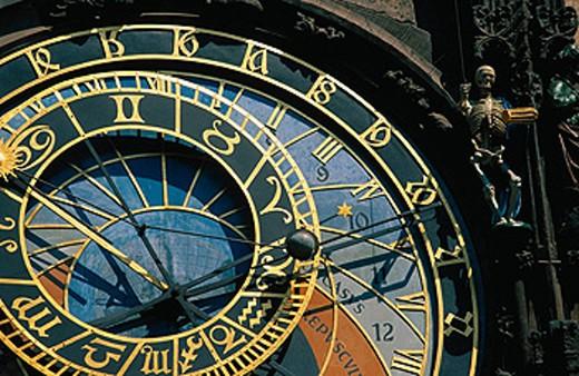 Astronomical clock. Old Town Hall. Prague. Czech Republic : Stock Photo