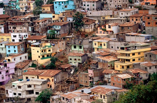 Poor suburban district. Cerro del Carmen. Guayaquil. Guayas province. Ecuador : Stock Photo