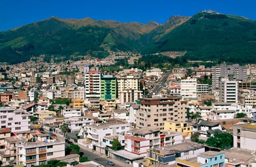 Stock Photo: 1566-045181 Downtown Quito. Ecuador