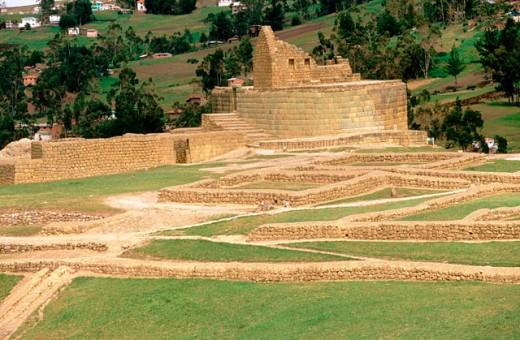 Incan ruins in Ingapirca. Cañar province. Ecuador : Stock Photo