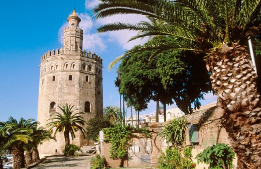 Torre del oro. Sevilla. Andalucia. Spain : Stock Photo