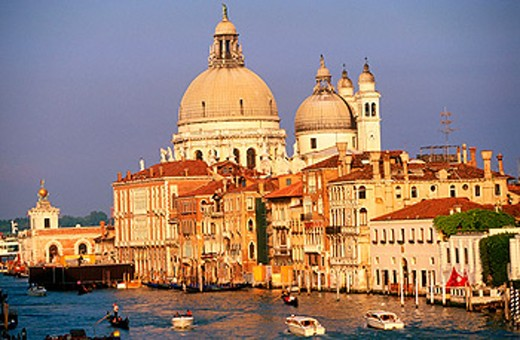 Grand Canal and Santa Maria della Salute. Venecia. Veneto. Italy : Stock Photo