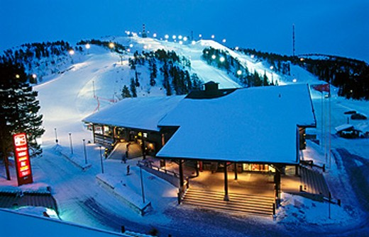 Ruka ski resort. Kuusamo. Finland. : Stock Photo