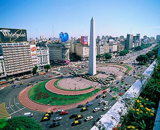 Stock Photo: 1566-046000 Avenida 9 de Julio. Buenos Aires. Argentina