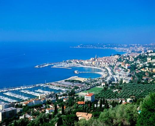 Menton. French Riviera. France : Stock Photo
