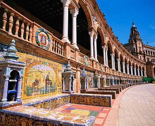 Stock Photo: 1566-046182 Plaza de España. Seville. Spain
