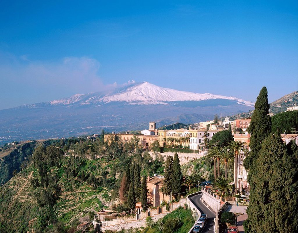 Etna Volcano. Taormina. Sicily. Italy : Stock Photo
