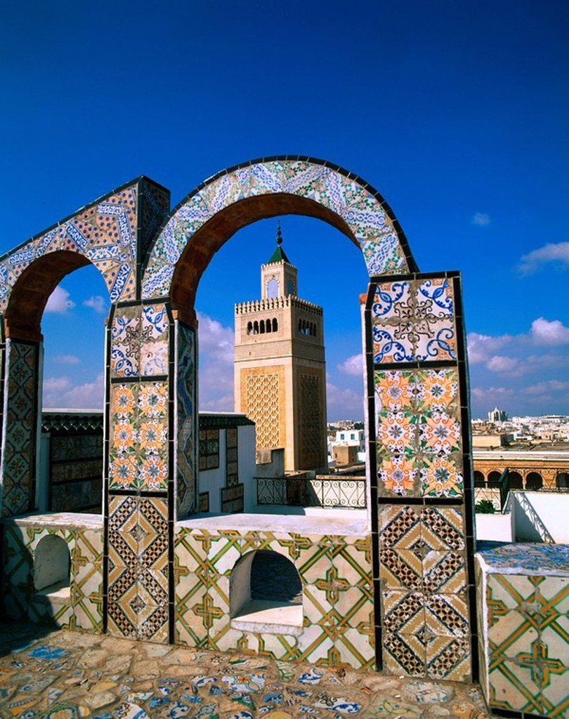 The Great Mosque. Tunis. Tunisia : Stock Photo
