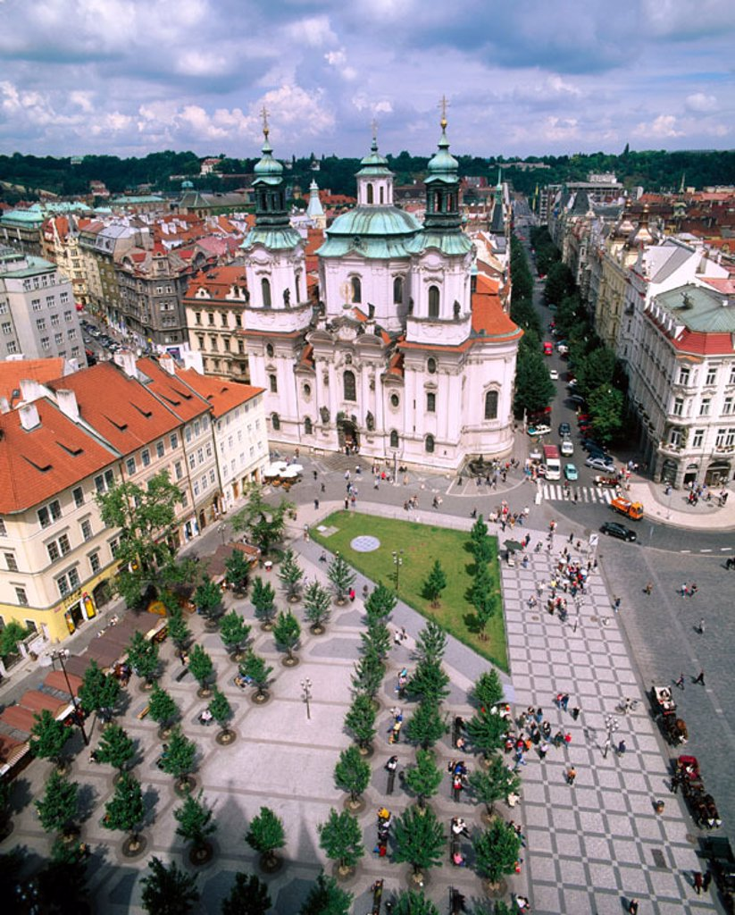 Stock Photo: 1566-046692 St. Nicholas Church. Old Town Square. Prague. Czech Republic
