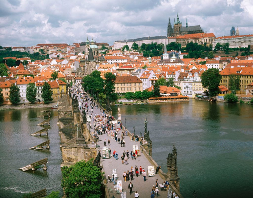 Stock Photo: 1566-046694 Charles Bridge. Prague. Czech Republic