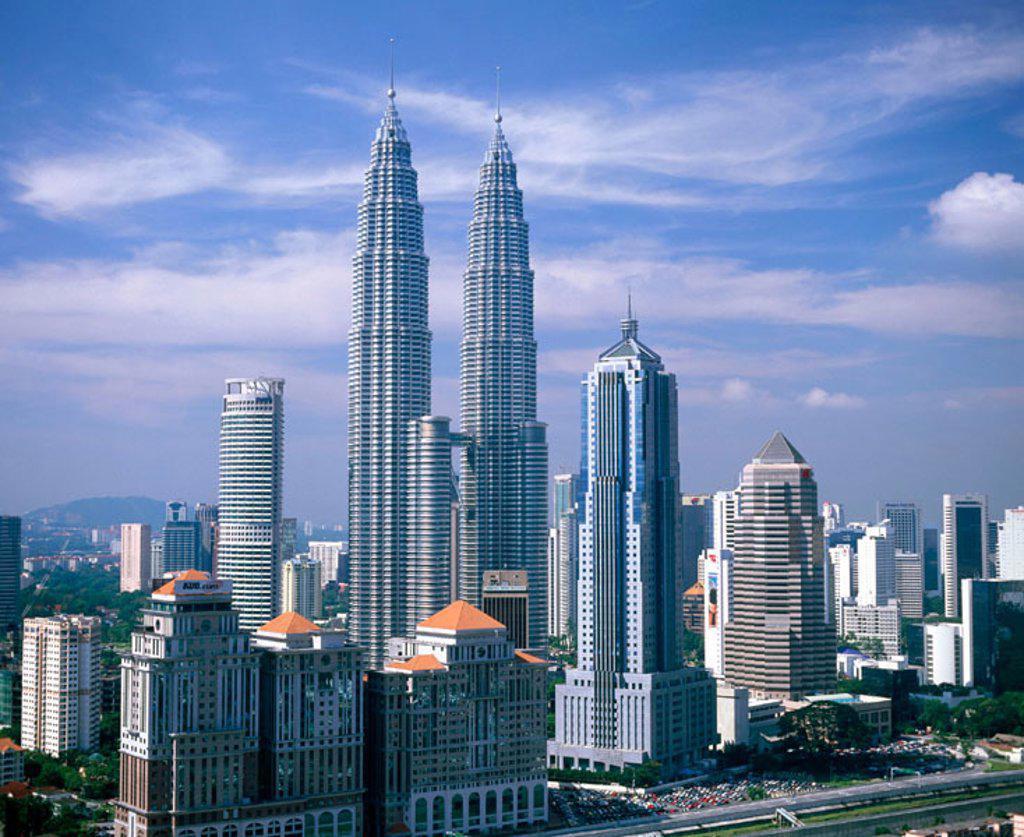 Petronas Twin Towers. Kuala Lumpur. Malaysia : Stock Photo