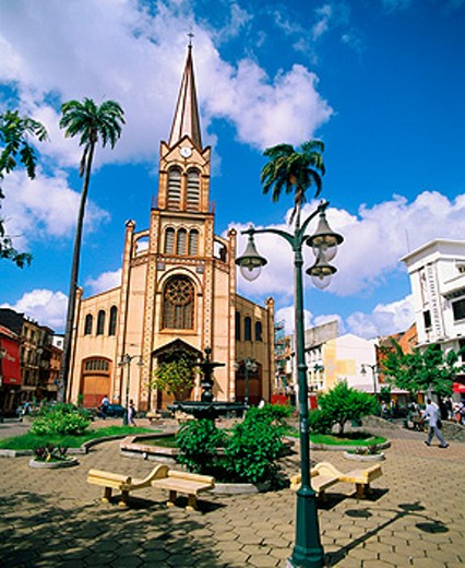 Saint Louis cathedral. Fort-de-France. Martinique : Stock Photo