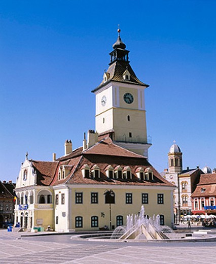Trumpeter´s Tower in Sfatului Square. Brasov. Romania : Stock Photo