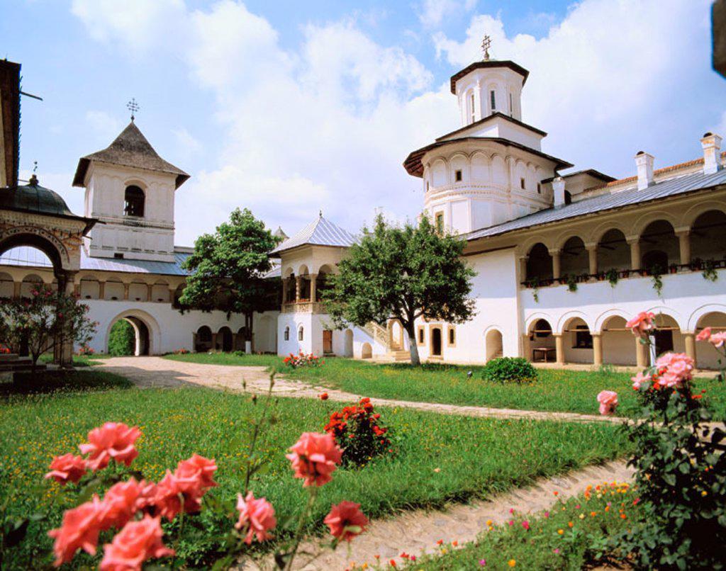 Stock Photo: 1566-047133 Fortified Horezu Monastery in Wallachia. Romania