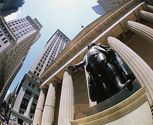 Washington Monument. Wall Street. New York City. USA : Stock Photo