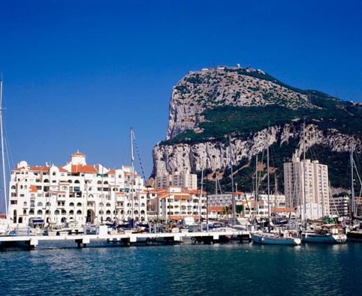 Stock Photo: 1566-047500 Rock of Gibraltar. UK