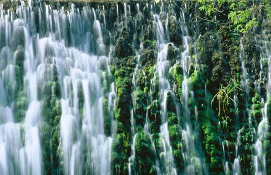 Stock Photo: 1566-048167 Watefall in the Rock Garden. Chandigarh. India