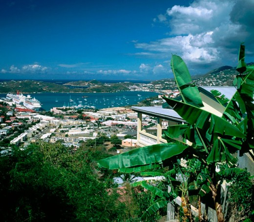 Charlotte Amalie. Saint Thomas. U.S. Virgin Islands : Stock Photo