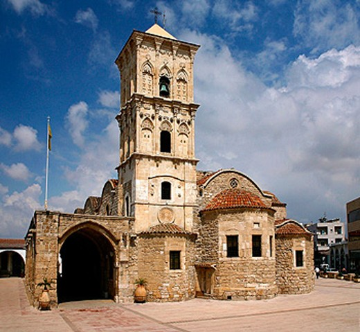 Lazarus church dating from 900 a.D. built on the site where it´s supposed Lazarus was buried: there is a relic of him in the church. Larnaca. Cyprus : Stock Photo
