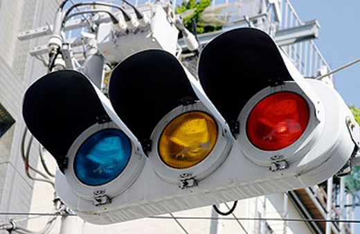 Stock Photo: 1566-048881 Traffic lights in Tokyo, Japan