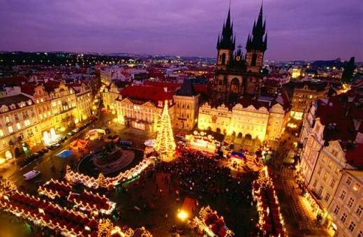 Stock Photo: 1566-049141 Staromestské Namesti (Old Town Square). Prague. Czech Republic