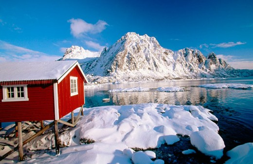 Stock Photo: 1566-049650 Svolvaer in Lofoten Islands. Norway