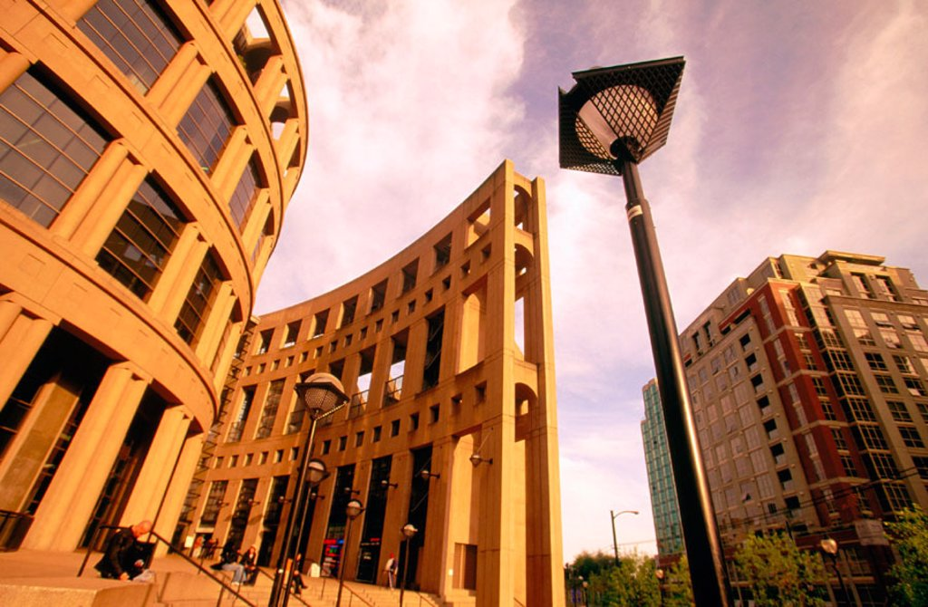 Vancouver Public Library Building. British Columbia. Canada : Stock Photo