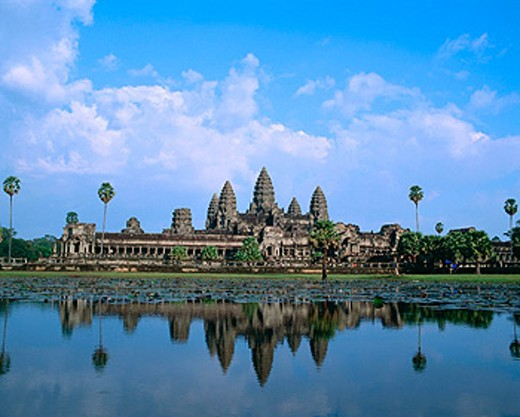 Temple complex of Angkor Wat. Angkor. Cambodia : Stock Photo