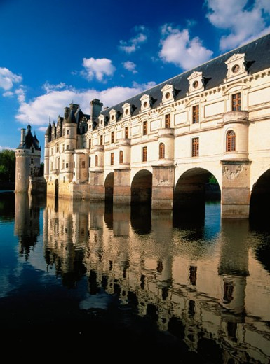 Cher River. Chenonceaux Castle. Loire Valley. France : Stock Photo