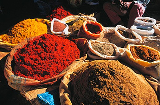 Spices market stall. Ouarzazate. Morocco : Stock Photo