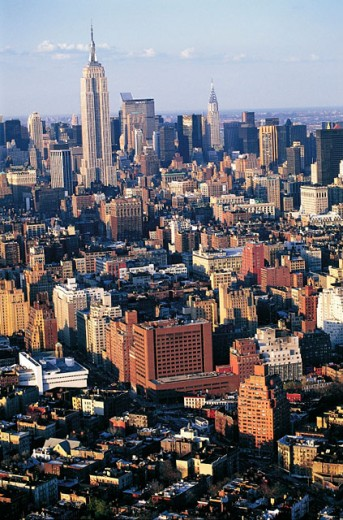 Stock Photo: 1566-051377 Aerial of Manhattan. NYC. USA