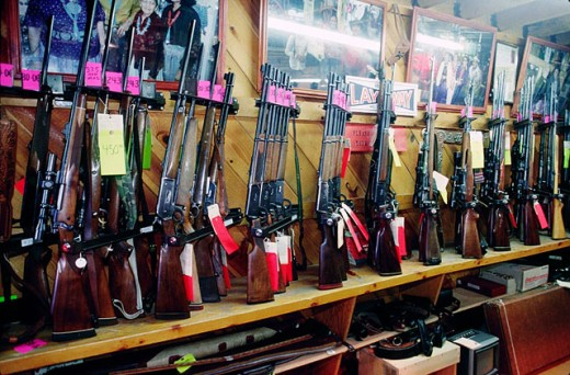 Gun shop. Gallup. New Mexico. USA : Stock Photo