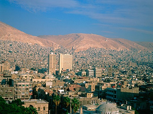 Overview on the city. Damascus. Syria : Stock Photo