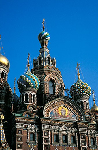 Stock Photo: 1566-051770 Church of the Bleeding Savior. St. Petersburg. Russia
