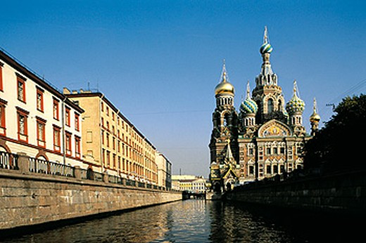 Stock Photo: 1566-051775 Church of the Bleeding Savior. St. Petersburg. Russia