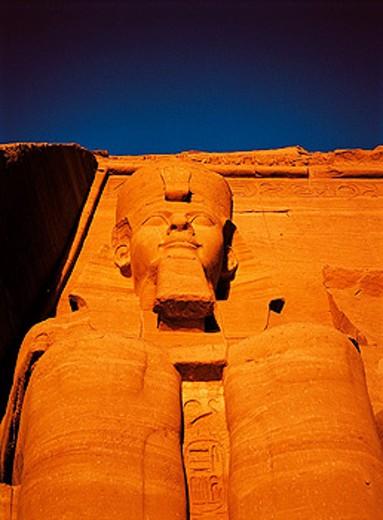 Stock Photo: 1566-051858 Temple of Ramses II. Abu Simbel. Egypt