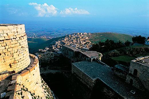 Stock Photo: 1566-051866 Krak des Chevaliers (Castle of the Knights). Qalaat al Hosn. Syria