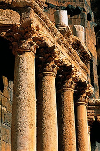 Stock Photo: 1566-051870 Detail of the roman theater. Bosra. Syria