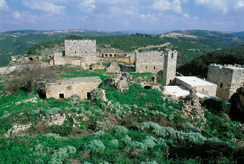 Qalaat Saladin (Saladin´s Castle or Saone Fortress). Syria : Stock Photo