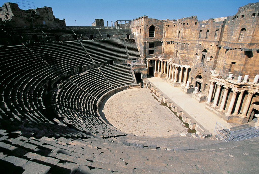 Roman theater. Bosra. Syria : Stock Photo