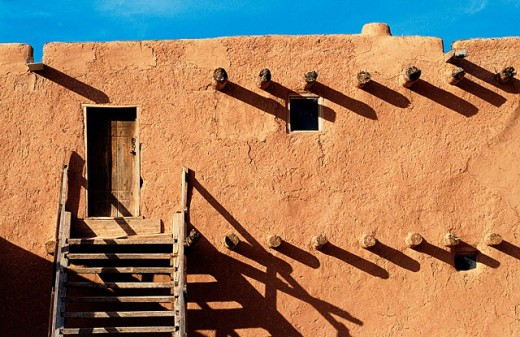 Stock Photo: 1566-051895 Adobe house. Santa Clara pueblo. New Mexico. USA