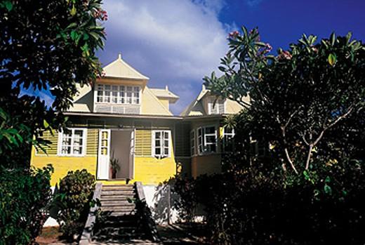 Stock Photo: 1566-051943 The Yellow House. La Digue. Seychelles