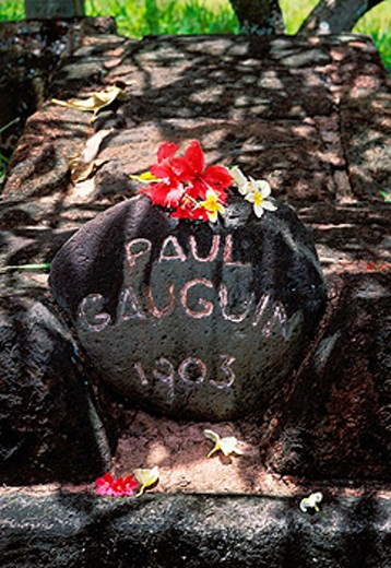 Gauguin´s grave. Atuona. Hiva Oa. Marquesas. French Polynesia : Stock Photo