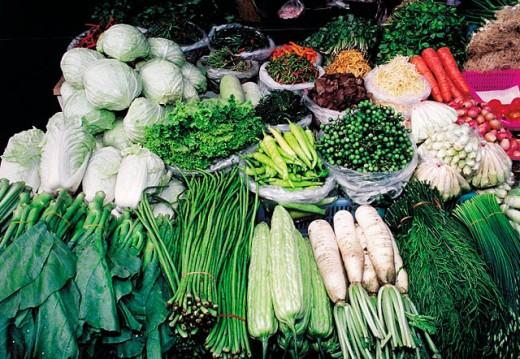 Stock Photo: 1566-052027 Vegetables at Mahachai market. Bangkok. Thailand