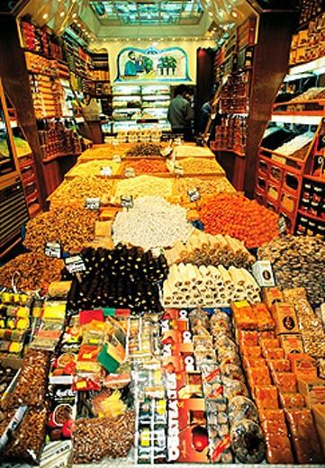Egyptian spices market. Istanbul. Turkey : Stock Photo