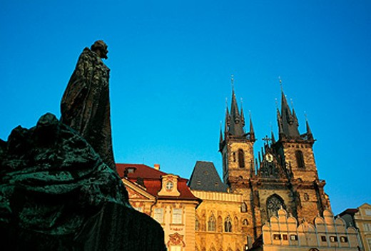Staromestské Namesti (Old Town Square) and Tyn Church. Prague. Czech Republic : Stock Photo