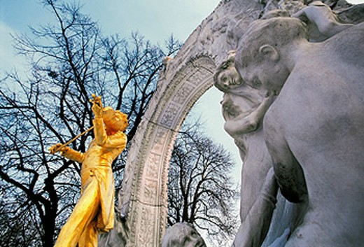J. Strauss Monument. Vienna. Austria : Stock Photo